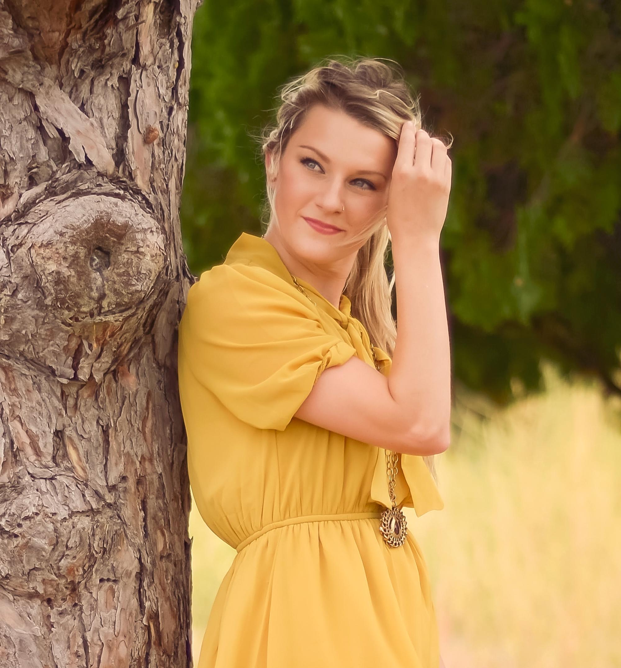 Happy Fall { mustard yellow bow dress }