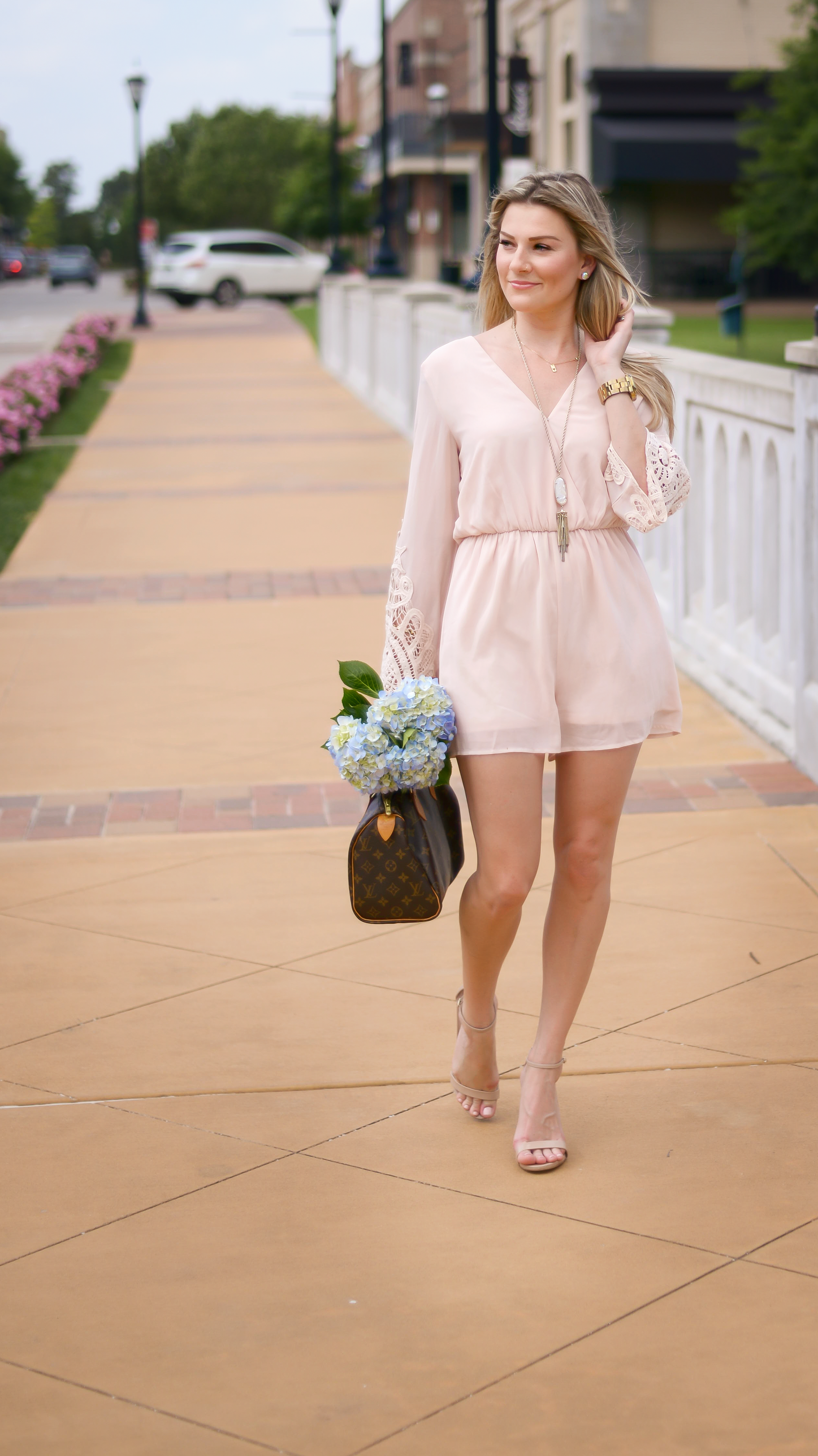 The Perfect Light Pink Romper ||  Mama In Heels