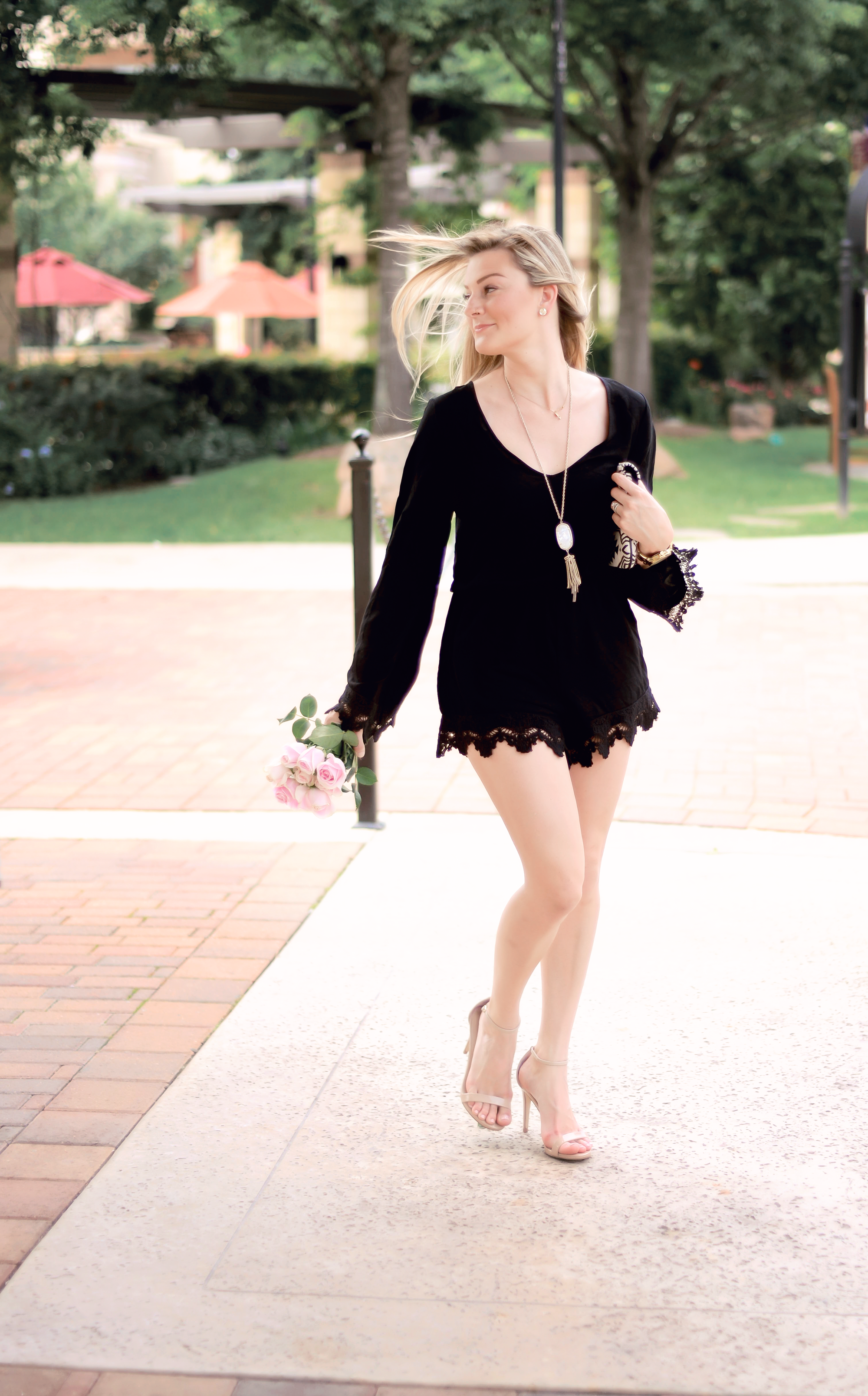 little black romper for you!!!! { The Chic Blonde }