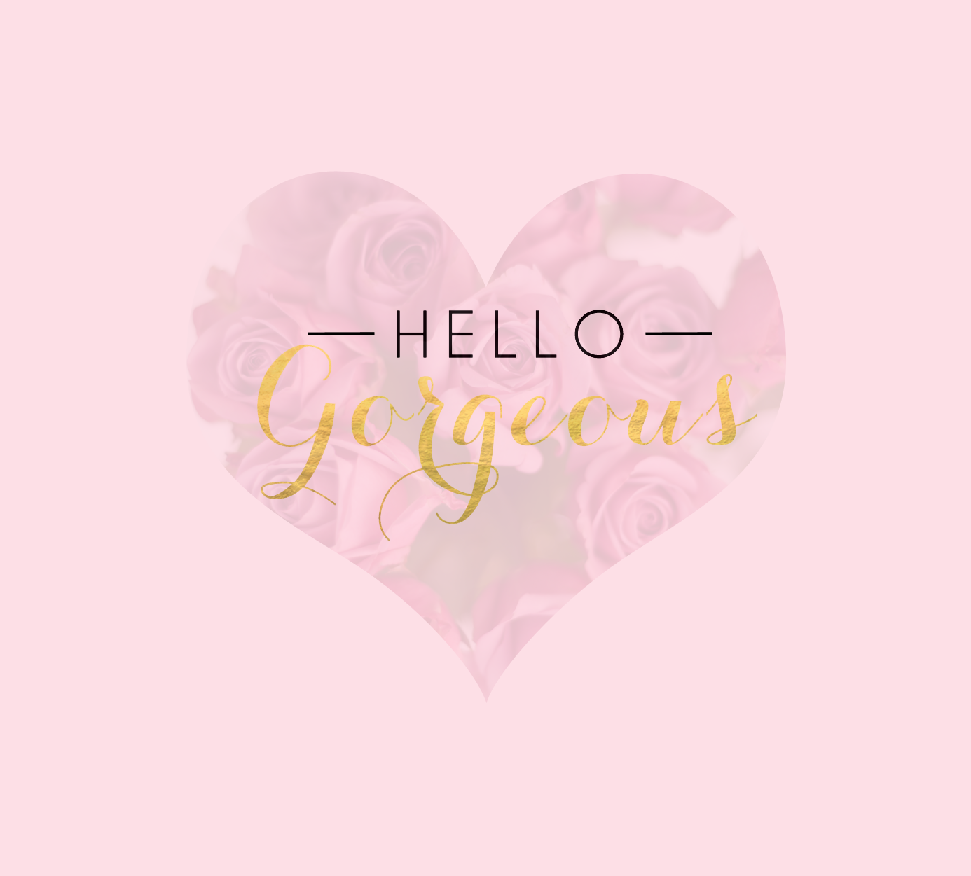 Friday Freebie { Hello Gorgeous }