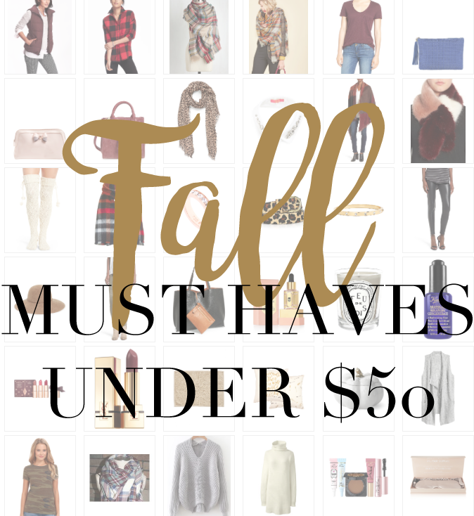SHOP FALL MUST HAVES UNDER $50