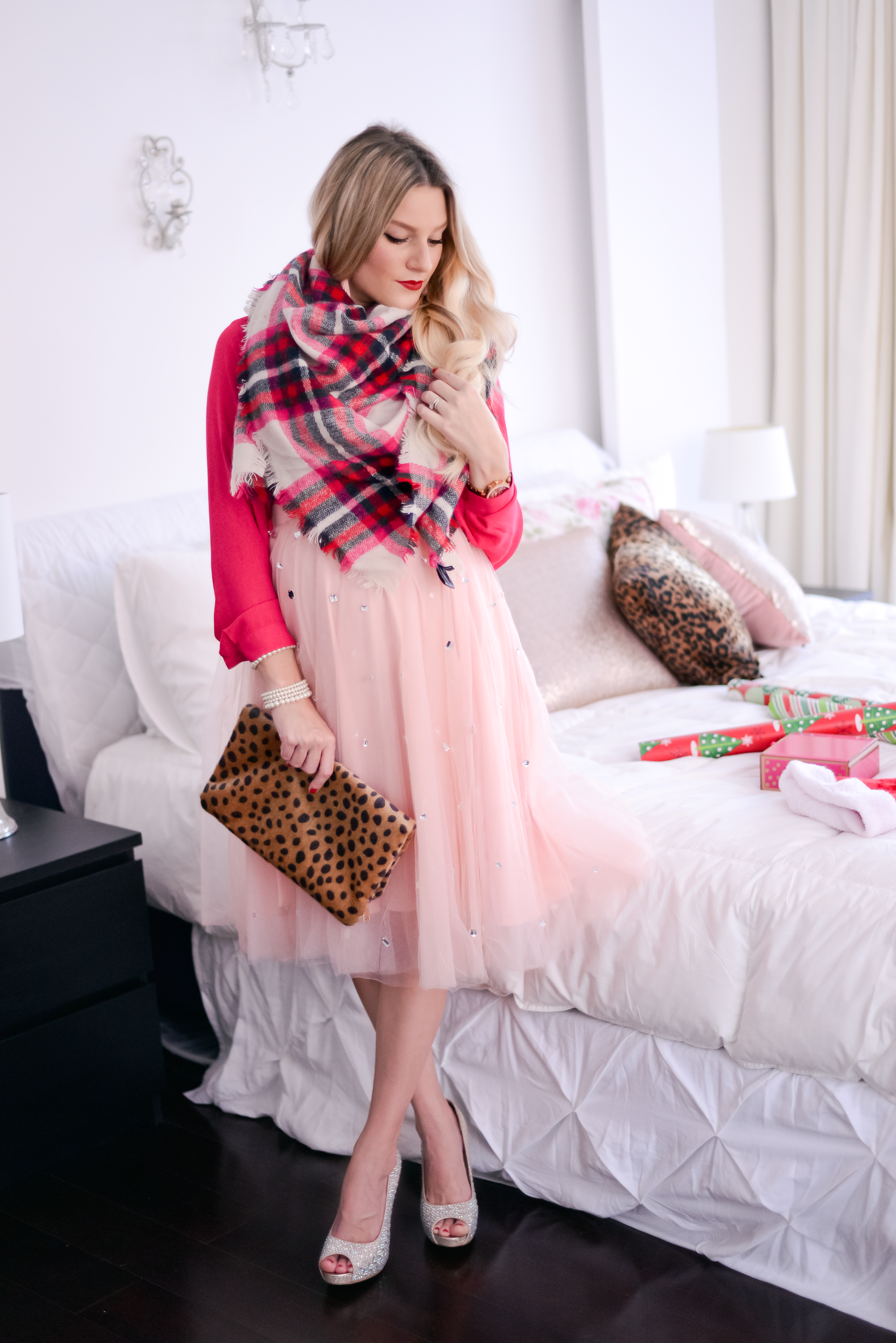 holiday outfit | sugar plum pink