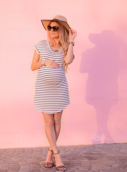little striped dress | bump update