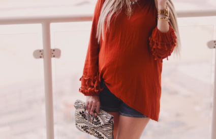 cute tassel top styled 2 ways