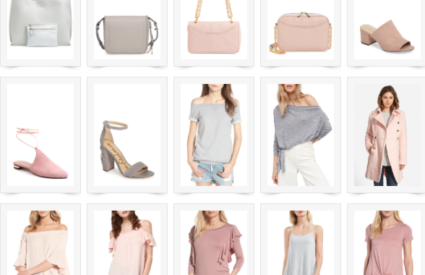 shop a grey & blush love affair { plus a sale }