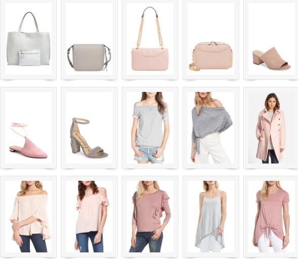 shop a grey & blush love affair { plus a sale }
